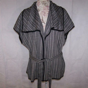 Dana Buchman XL Cardigan Open Front Sleeveless